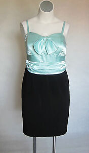 NEW-SeXy-Torrid-Mint-Green-Black-Party-Prom-Cocktail-Dress-Size-12-XL-0x-0