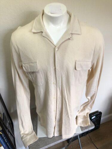 Vintage Polo Ralph Lauren Large Cotton Mesh Shirt… - image 1