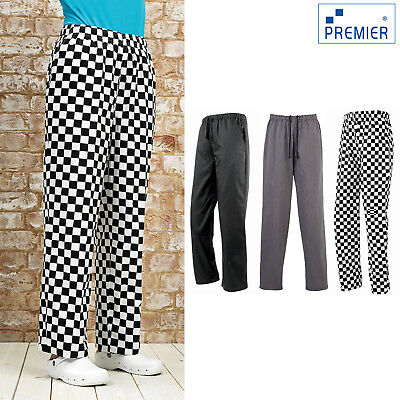 PREMIER ESSENTIAL CHEF/'S COOK KITCHEN CATERING TROUSERS XS 3XL 4XL PR553