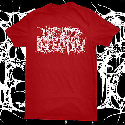 DEAD INFECTION - Logo Red T-SHIRT Carcass GENERAL SURGERY Haemorrhage GOREGRIND