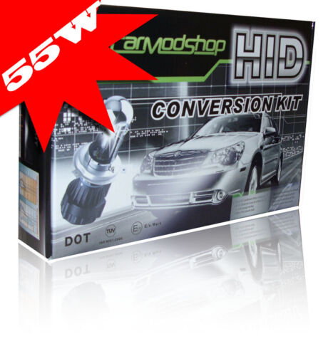 55 W H4 Bi-Xenon HID Kit De Conversión Delgado Ballast Headlight Bulbs Par Para Fiat