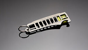 Jeep Cherokee XJ Grill Stainless Steel keychain