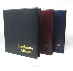 banknote album storage folder choose colour inserts option 3 ring