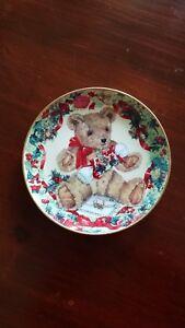 FRANKLIN MINT TEDDY'S 1ST CHRISTMAS PLATE SARAH BENGRY | eBay