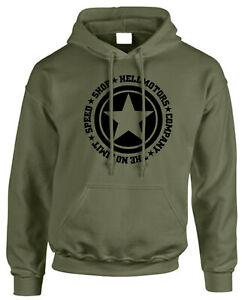 SPEED-Limit-UOMO-OFFROAD-Hoodie-con-Cappuccio-Pullover-JEEP-WILLYS-US-Car-v8-SWEATER