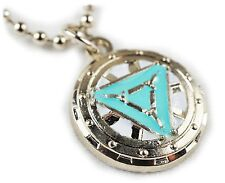 Iron Man Heart Vibranium Arc Reactor Avengers 1 2 3 Pendant Necklace w/ Chain