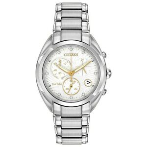 Citizen-Eco-Drive-Women-039-s-Chronograph-Diamond-Accents-35mm-Watch-FB1390-53A
