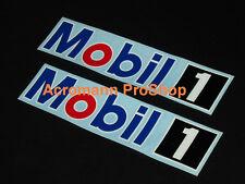 "2x 12"" 30.5cm MOBIL 1 decal sticker ONE motor oil NASCAR F1 DTM BTCC lubricant"