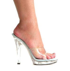 Clear Mule Sandals 5
