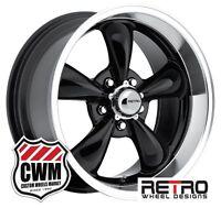 17x7 17x9 Ford Galaxie Wheels Set Black Galaxie Rims For Galaxie 68-70