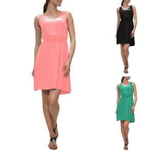 Only Damen Kleid Sommerkleid Freizeitkleid Unifarben Basic Color Mix NEU