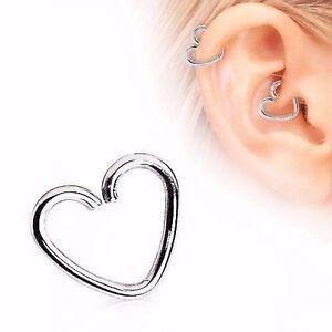 Image Is Loading 18g Steel Heart Ear Cartilage Earring Tragus Helix