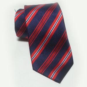 Navy//Red Knightsbridge Neckwear Mens Circles Silk Skinny Tie