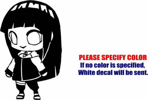 "Naruto Hinata Hyuga Chibi Car Truck Bumper JDM Fun 7/"" Vinyl Decal Sticker"