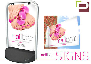 Image Is Loading Nail Bar PAVEMENT SIGN Wall Sign ADVERTISING STREET