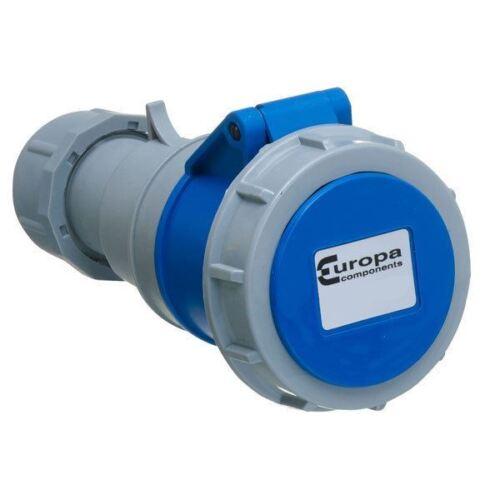 Europa ISW163P 230V 2P+E 16A Azul IP67 sockets en línea sección transversal de 1-2.5mm