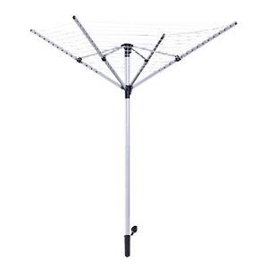 164ft-15-line-Umbrella-Shaped-Clothes-Dryer-Outdoor-Clothesline-Aluminum-Post