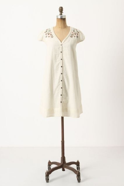 NWT Anthropologie Swing Away Embroidered Wool Dress Tunic Size 8P