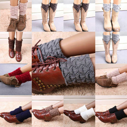 Fashion-Winter-Crochet-Knitted-Shell-Design-Boot-Cuffs-Toppers-Liner-Leg-Warmers