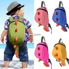 New Baby Toddler Kids Child Dinosaur Canvas Backpack Schoolbag Shoulder Bag ES9P