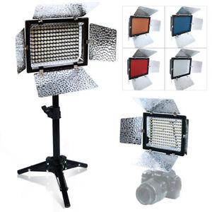 160 LED Camera Video Lamp Light Stand Kit for Canon Nikon Pentax SLR DSLR