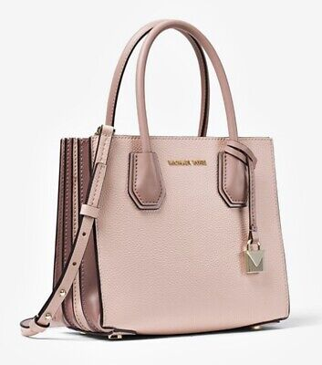 Michael Kors Bag Mercer Medium Accordion Crossbody Bag Soft Pink NEW | eBay