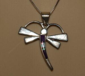 Silver-Dragonfly-Necklace-by-Calvin-Begay-Navajo