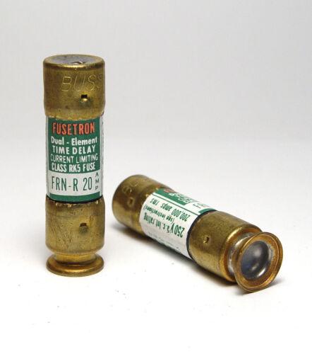 20amp 250 V 14 x 51 mm Dual élément Fuse//Sauvegarde 2x Fusetron FRN-R 20