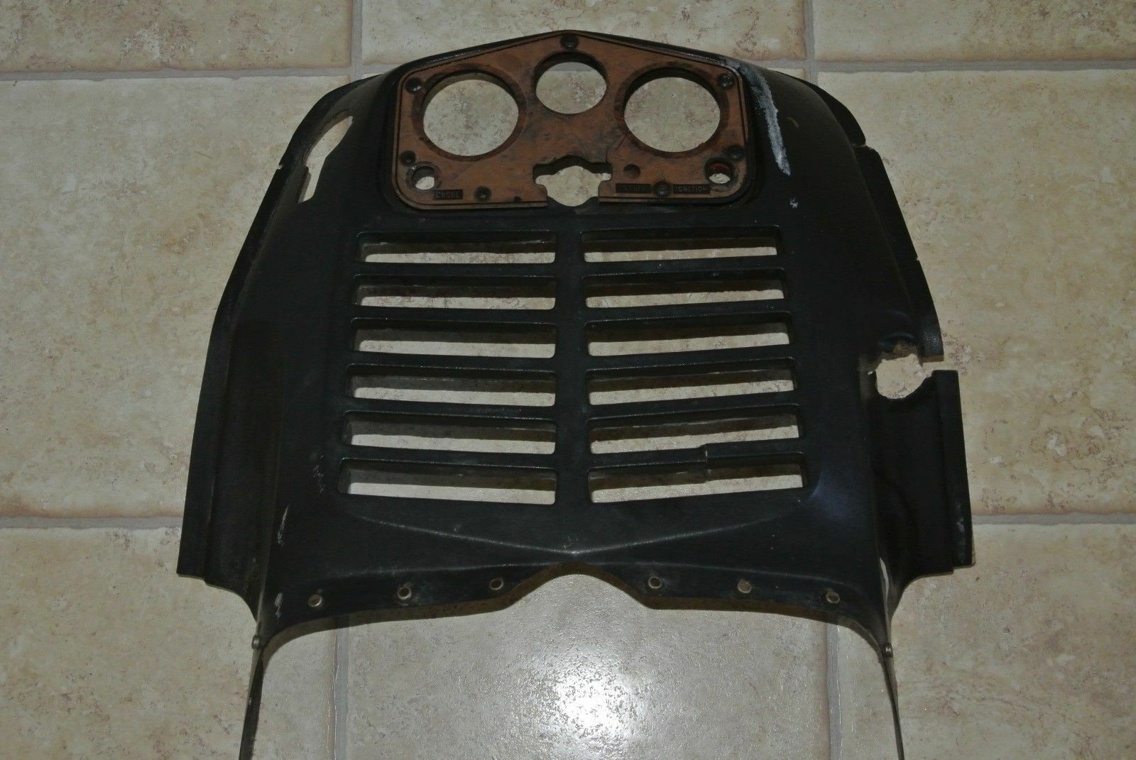 DASH PANEL RADIATOR COVER HOLDS GAUGES Vintage Rupp Magnum Nitro Alouette Brute