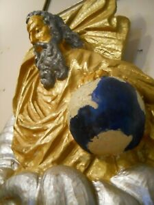 God The Father Creates The Earth - German hand carved wood - make an offer