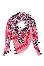 New Hirbawi Kufiya Original Men's Arab Scarf One Size Pink Shemagh