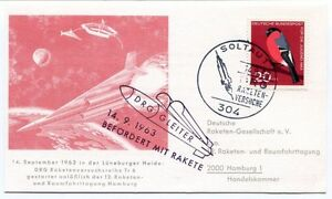 1963 Befordert Rakete Drg Gleiter Raumfahrttagung Hamburg Soltaut Versuche Space