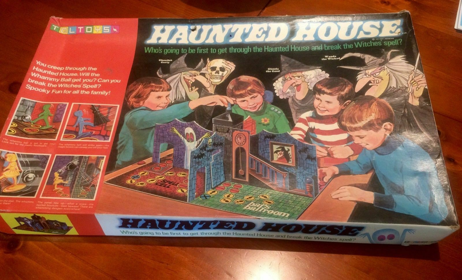 Haunted  House Board Game - TolToys - 1971 - Extremely Rare.  en ligne pas cher