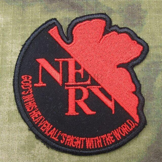 EVA NEON GENESIS EVANGELION NERV LOGO Embroidery Patch B1973