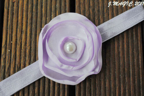 Stretchy Flower Newborn Baby Infant  Kid Girl Headband Christening Photo Prop