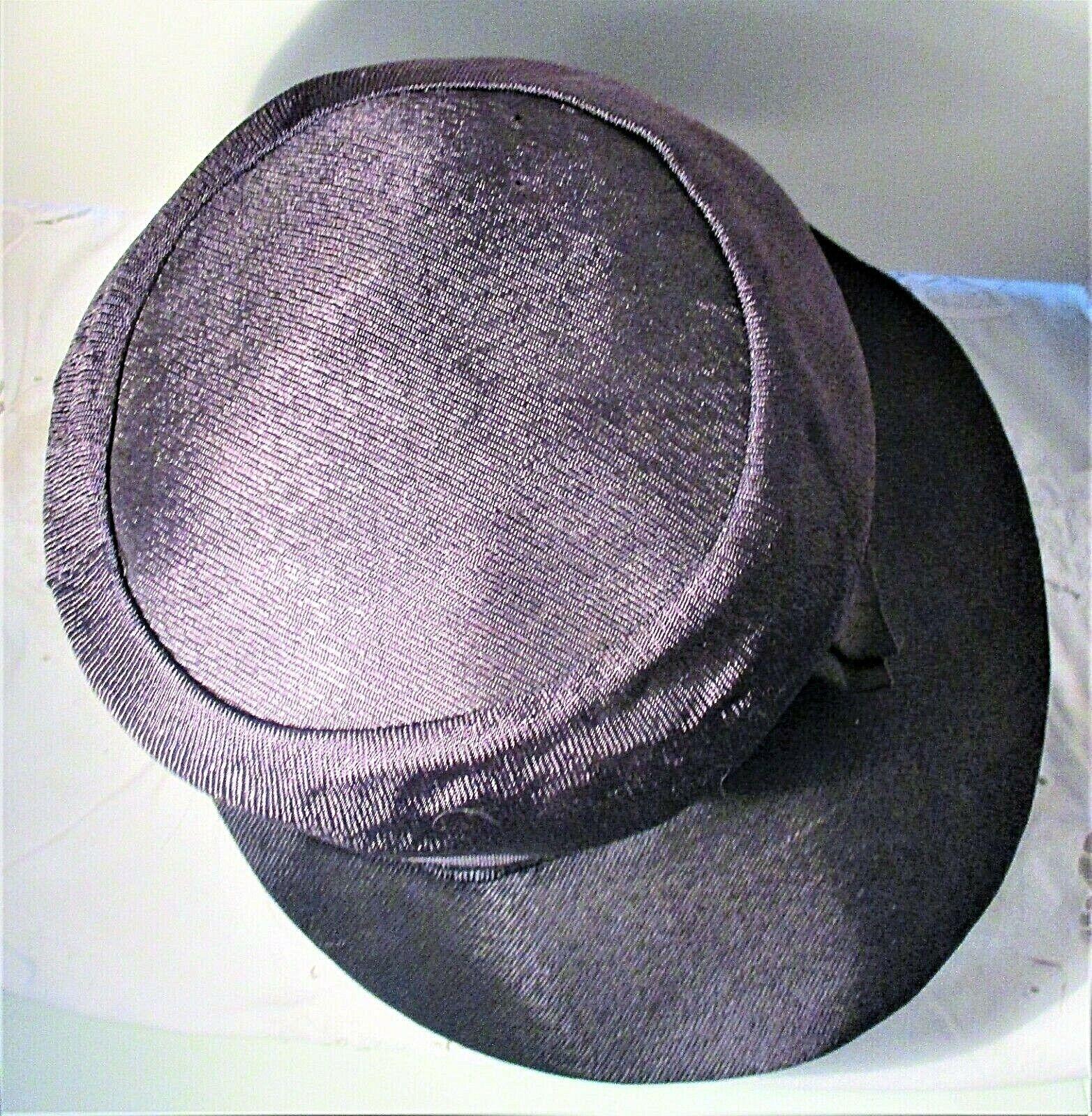Vintage 1930s Navy Blue Wide Brim Hat With Grosgr… - image 5