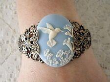Hummingbird Cuff Bracelet, victorian edwardian art nouveau art deco nature