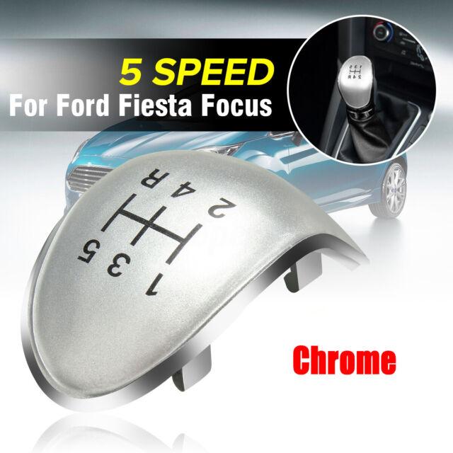 Chrome 5 Speed Gear Stick Knob Insert Cap Cover For Ford Fiesta Focus C Max UK