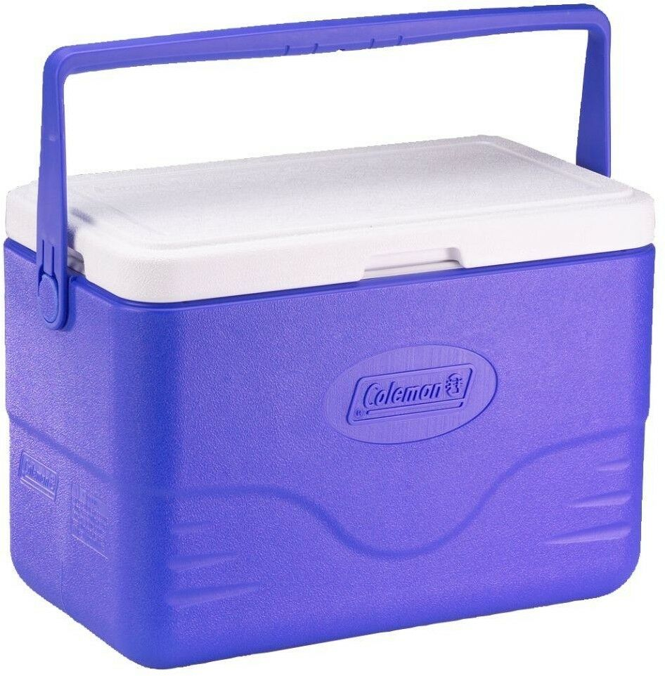Coleman Chest  Cooler Camping Outdoor Picnic Sports Bail Handle 28 Quart bluee