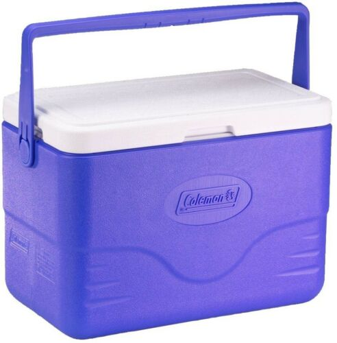 Coleman Chest  Cooler Camping Outdoor Picnic Sports Bail Handle 28 Quart Blue