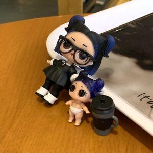 Ultra Rare LOL Surprise Doll Dusk Family Series 3 Confetti Pop Dusk /& lil dusk