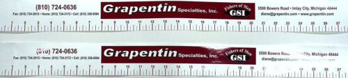 """TWO for Coolers,Boats,Sleds Check Legal Length #FR 27/"""" Stick-On Fishing Ruler"""