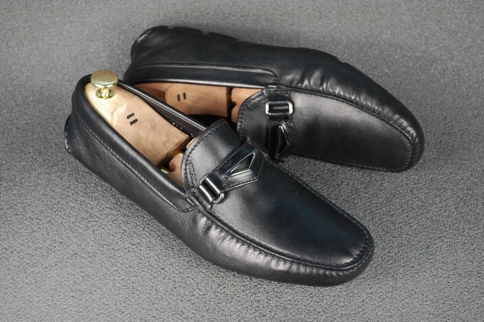 Prada conducción Mocasín Hecho en Italia UK7.5 US8.5 EU41.5 Mocasines Zapatos para hombre