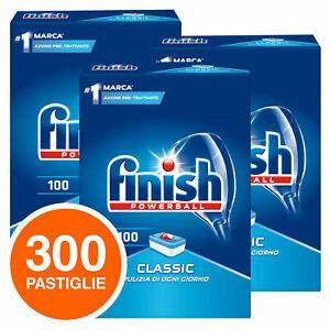 300 Pastiglie Powerball Classic Lavastoviglie Finish Detersivo Pulizia Stoviglie