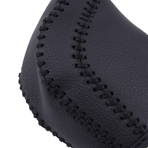 Schwarzes Auto Leder Schalthebel Knopf Abdeckrahmen passt für Toyota Camry 2018