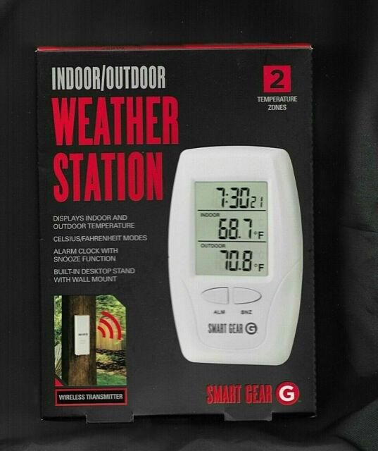 SMART GEAR~Indoor Outdoor Weather Station~WALL/DESK TOP ...