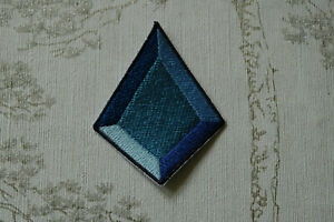 Embroidered iron on patch: Steven Universe Blue Diamond.
