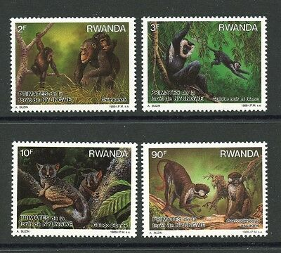 Animal Kingdom Red-tailed Monkey Making Things Convenient For Customers Trustful Primates Set Of 4 Stamps Mnh 2013 Rwanda #1306-9 Chimpanzee Topical Stamps