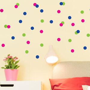 96pc Bright Star Kids Wall Stickers / Decals - Mini Polka Dot - Pick a Colour