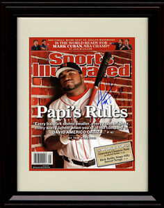 48c80b8fbf7 Image is loading Framed-David-Ortiz-Sports-Illustrated-Autograph-Replica -Print-